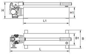 Габаритные размеры насоса НРГ-Р двупоточного